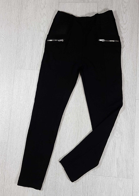 ◾Young Dimension black leggings with zip detail. 7-8yrs