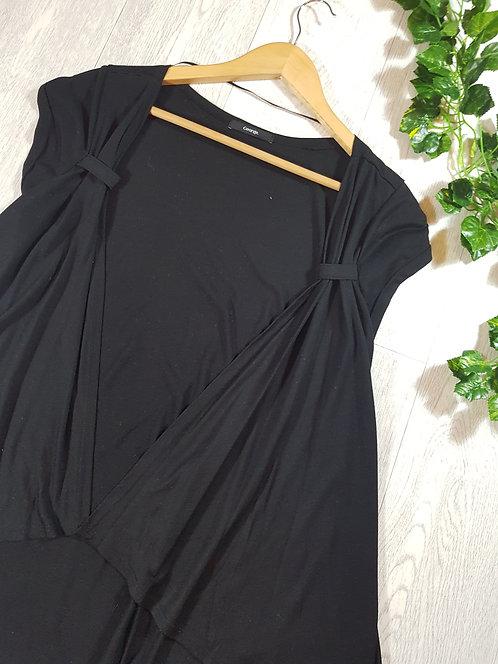 ✴George ladies black short sleeve cardigan size 14