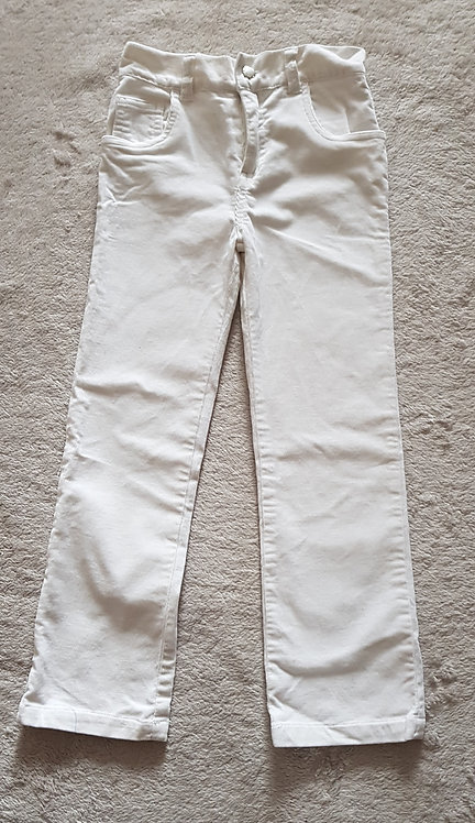 GIRL2GIRL White chord trousers. 100% cotton. Wash at 40° 6-7yrs  KEEP AWAY