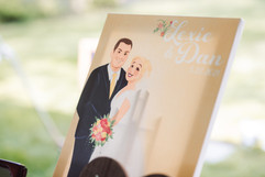 disney pixcture of bride and groom, lexie and dan on their wedding day