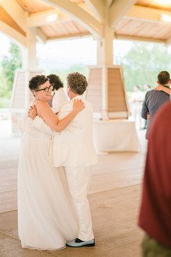 jackie and judy walton the couple having their first dance
