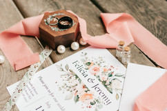 pearls and ribbon on flatlay for michigan wedding