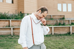 groom tearing up as his bride makes her way down the aisle