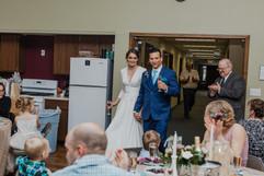 couples entrance to their michigan wedding