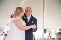 bride dancing with her father at her michigan wedding