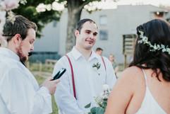 groom gazing at his beautiful bride
