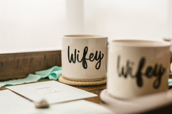 wifey and wifey mugs for lgbtq wedding in michigan