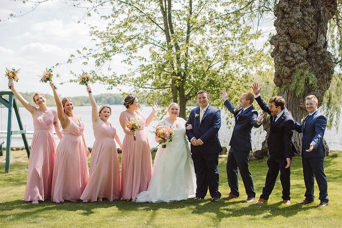Lakefront Michigan wedding with wedding coordinator