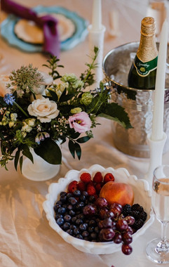 stunning tablescape at michigan wedding designed by michigan wedding planner, michigan wedding stylist, michigan wedding designer tascha amond from muse weddings who also does wedding coordination in grand rapids