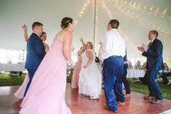 couple dancing at their wedding in michigan
