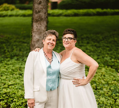Jackie and judy were married at millennium park in grand rapids michigan. we are lgbtq+ friendly michigan wedding coordinators
