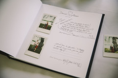 wedding guest book with instax camera prints. Polaroid picture wedding guest book