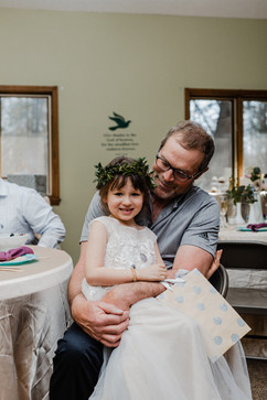 father of the bride at an indoor michigan church wedding