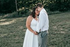couples portrait at michigan wedding reception