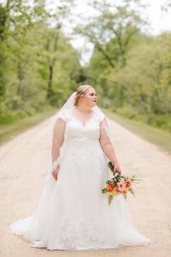 bride at her michigan lakeside wedding