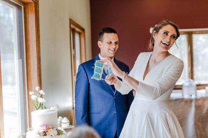 baby boy gender reveal at michigan wedding reception