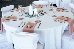 pink and white wedding table decor inspiration for michgan wedding