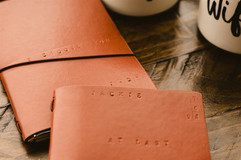 leather bound vow books for lgbtq wedding