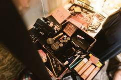 the pretty committee in michigan has a wonderful makeup set up for brides