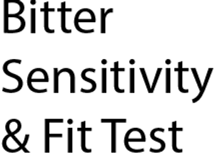 Bitter Fit Test Solutions Kit
