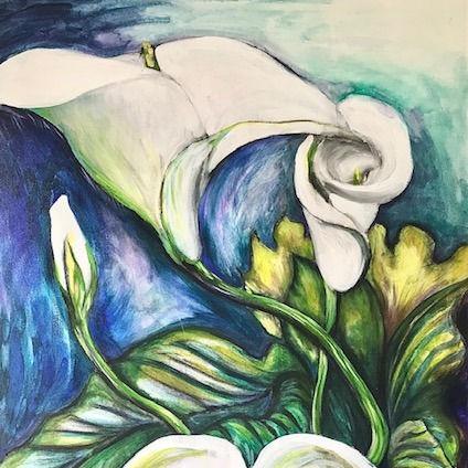 Georgia O'Keeffe and Large Scale Flowers