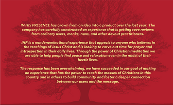 In His Presence VR | Sales Deck | 01