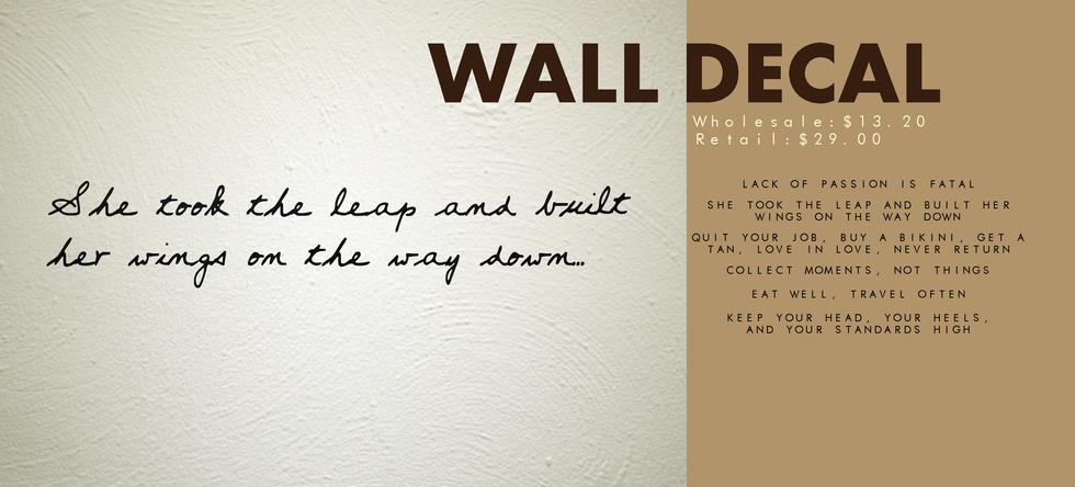 Housewares | Catalog | Wall Decal
