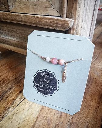 Bracelet chaîne plume