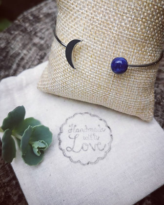 Croissant de lune lapis lazuli