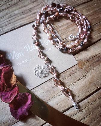 Bracelet 3 en 1 bois fossilisé 4mm