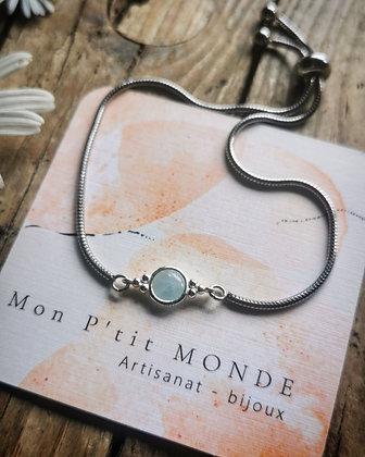 Aigue - marine bracelet
