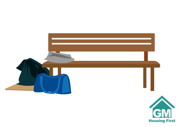 99074 GMHF bench and belongings.png