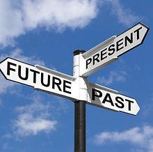 past present future sign post