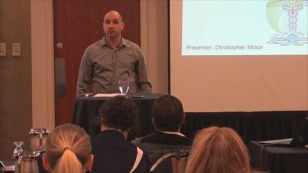 Chris Minor speaking on the keys of success