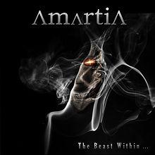 Amartia . The Beast within. 2017. musique métal. rock. fond noir. masque et  fumée