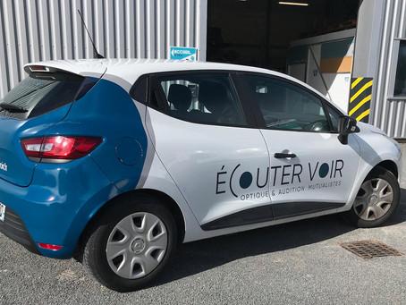 Covering voiture Écouter Voir x Plexico - Enseigne Communication