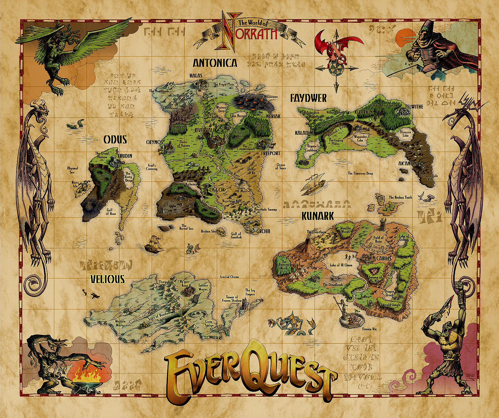 EverQuest World Map
