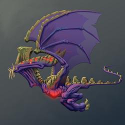 monster flying small