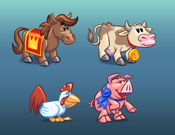 Cartoons for a Slots Game