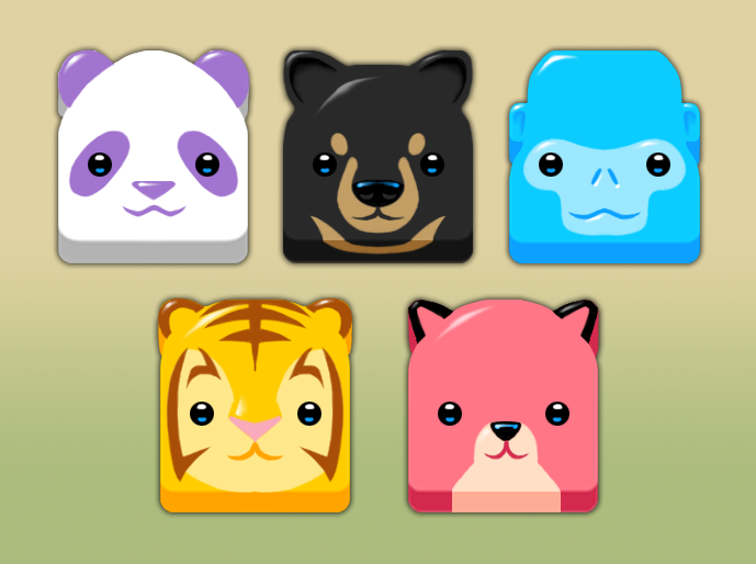 Animal Tiles for Swipe 3