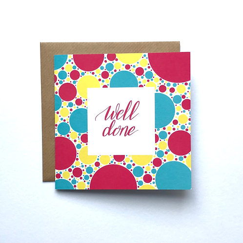 Well Done Greeting Card - Pink