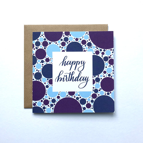 Happy Birthday -Blue