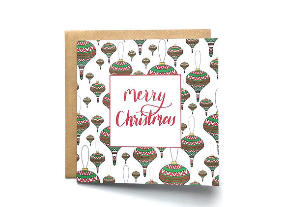 Christmas Cards -Red Baubles