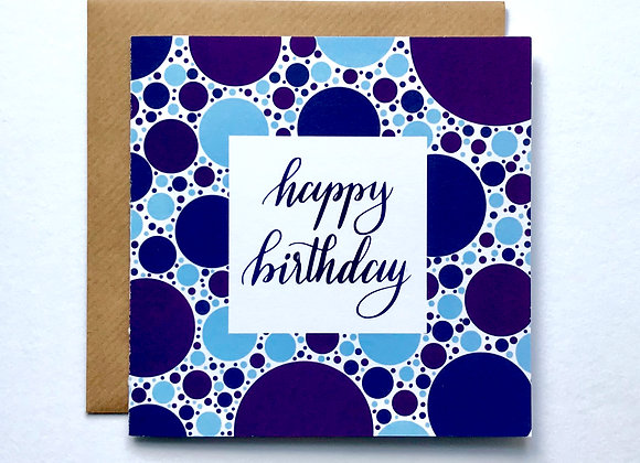 Happy Birthday Card- Blue