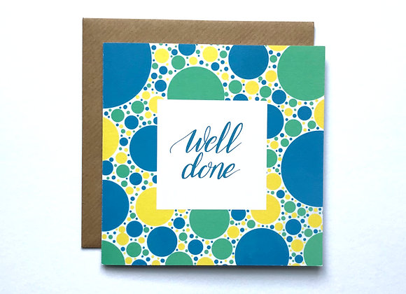 Well Done Card - Blue