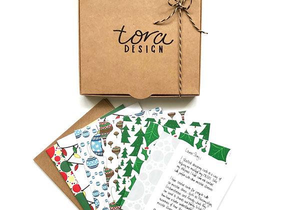 Christmas Card Box of 6- Mixed