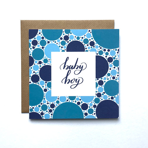 Baby Boy Card- Blue