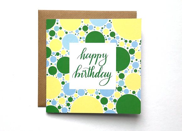 Happy Birthday - Green