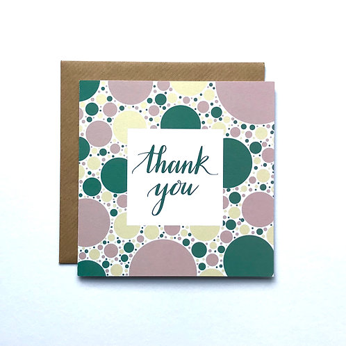 Thank You Card- Pink
