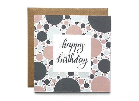 Happy Birthday Card- Grey